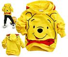 New Kids Boys Girls Lovely Winnie the Pooh Yellow Hoodies Aged 2-8years