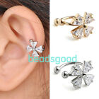 CZ Gem Lily Cross Clover Flower Ear Cartilage Cuff Wrap Clip Earring No Piercing