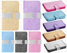LG Optimus L70 Premium Bling Diamond Wallet Case Flip Pouch Cover + Screen Guard