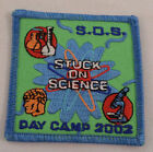 Girl Scout Patch Stuck On Science Day Camp 2002  Uniform Patch Gs #Gsbl