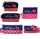 Minnie Mouse make up Cosmetic Pouch Stationery Storage Pencil bag Keychain Bag