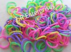 PEARL BEADED LOOM BANDS pack 300 / 24 clips loom bands charms clips mixed**UK**