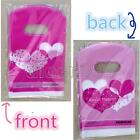 50 Pcs Plastic Small Pretty Patterns Packing Shopping Jewelry Present Gift Bag