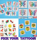 1 PACK Childrens Temporary Tattoos Paper,Animal,Butterfly,Kid Toy,Party Prize