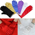Fashion Ladies Satin Short Gloves Wedding Bridal Evening Party Sexy Costume