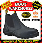 Oliver Kings Work Boots, 34680 / 15480 , Safety Steel Cap, Black, Pull On, CHEAP