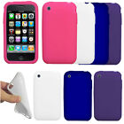 For Apple iPhone 3GS 3G Color SILICONE Soft Gel Skin Rubber Case Cover Accessory