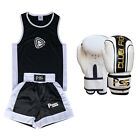 Kids Boxing Uniform Set of 2 Top & Short Age 5-12 Years + Boxing Gloves  (1006)