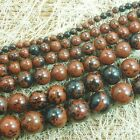 Natural Brown Flame Jasper Gemstone Round Beads 15'' 4mm 6mm 8mm 10mm 12mm
