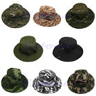 Military Combat Camo Ripstop Army Boonie Bush Jungle Sun Hat Cap Hiking Fishing