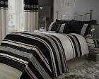 Beige Black Metallic Effect Duvet Cover OR Bedspread OR Curtains OR Cushion