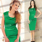 Women Celebrity Belted Tunic Wear To Work Party Cocktail Sheath Pencil Dress 689