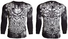 Xtreme Couture AFFLICTION Mens THERMAL T-Shirt OFFERING Tattoo Biker S-3XL $58 a image
