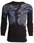 XTREME COUTURE by AFFLICTION Men THERMAL T-Shirt DOUBLE UP Dragons Biker UFC $58