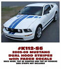 K112 2005-09 MUSTANG - NARROW DUAL HOOD STRIPES with FADER DECALS