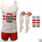 118 118 Fancy Dress Costume Vest Shorts Hen Stag Party Outfit
