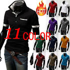 New Men's Summer Stylish Casual Slim Fit Short Sleeve Polo Tops 11 Colors M-XXXL
