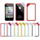 Plastic Cute Bowknot Bow Bumper Frame Case Cover Skin for Apple iPhone 4 4G 4S