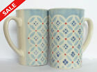 SALE - Pair of Large Patterned Mugs
