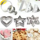 3Pcs Cake Stainless Fondant Cutter Biscuit Cookies Pastry Baking Sugarcraft Mold