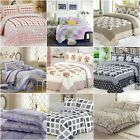 Queen/King Size Bedspread Patchwork Quilted Coverlet Bed Blanket Throw Rug New