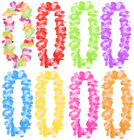 HAWAIIAN LEI GARLAND FLOWER NECKLACE LADIES MENS LUAU LOT FANCY DRESS PARTY