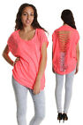 New Womens Ladies Studs Shiny Cut Out Open Back Sleeveless Top Summer Knitwear