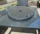 Rattan Lazy Susan Outdoor Garden Table Furniture in Black or Brown