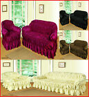 Jacquard Sofa Covers Elasticized Arm Chair 2 & 3 Seater Sofa Throw & Slipcovers