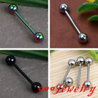 1piece Stainless Steel Ball Bead Tongue Ring Barbell Bar Stud Body Piercing