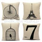 Fashion Cotton Car Sofa Throw Pillow Cases Home Decorative Cushion Cover Square