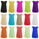 Womens Ladies Front Knot Strapless Summer Bandeau Boobtube Top Plus Size 8-24 UK