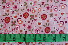 BELLA MOROCCO BY BENARTEX - CIAO BELLA FLOWERS ON PINK 100% COTTON FABRIC