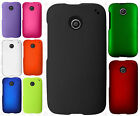Motorola Moto E Rubberized HARD Protector Case Snap Phone Cover + Screen Guard