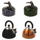 Highlander Deluxe 2L and Aluminium 1 & 2L Whistling Kettles Camping