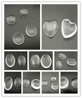Acrylic Glass Clean Transparent Cabochons Cameo Jewelry Making Finding