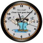 PLUMBER WALL CLOCK ELECTRICAL PERSONALIZED PROFESSIONAL DECOR DAD PLUMBING PIPES