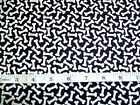 RESCUE ME - WHITE BONES ON BLACK CAT & DOG FABRIC RANGE 100% COTTON PATCHWORK