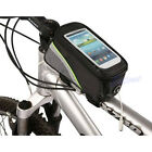 Bike Cycle Bicycle Front Tube Bag Frame Pannier Touch Holder For Mobile Phone