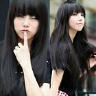 Fashion Sexy Womens Girls Long Straight Cosplay Hair Wigs Wig Full wigs Cap Gift
