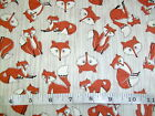 TIMBERLAND CRITTERS - FOXY FRIENDS FOXES ON GREY FABRIC by Adorn it