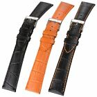 Genuine Leather Watch Strap Crocodile Grain Long Size for Omega Dress Watch