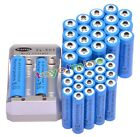 20x AA 3000mAh + 20x AAA 1800mAh 1.2V Ni-MH Blue Rechargeable Battery +Charger