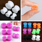 Punk Swirl Snail Silicone Flexible Flared Ear Tunnel Plugs Expander Stretcher
