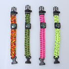 Hot Paracord Compass Rope Bracelet Wristband Survival Camping Hiking Climbing