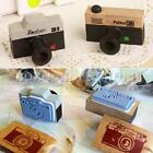 Vintage Retro Wooden Camera Rubber Stamps Scrapbook Craft Handwriting DIY Gift