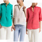 New blouse European style shirt candy color button long sleeve TOP SHIRT