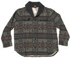 $345 Double Ralph Lauren RRL Mens Grey Wool Shawl Collar Cardigan Sweater Jacket