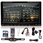"7"" HD Touchscreen Double 2DIN Car GPS Stereo DVD Player Bluetooth Radio+Camera Y"