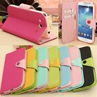 Hybrid Flip Wallet Leather Case Cover Stand For Samsung Galaxy Mega 5.8 I9150